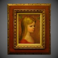 Harry Myers impressionist portrait oil painting young blond girl