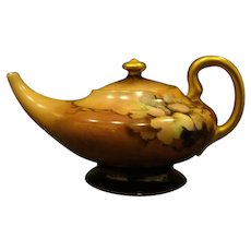 Bavaria hand painted miniature handled pot