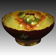 Pickard hand painted Limoges fruit punch bowl artist signed Blaha