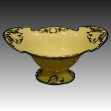 Lenox china silver overlay nouveau form footed dish bowl