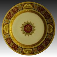 Vienna Austria beehive plate medallions with raised gold decoration