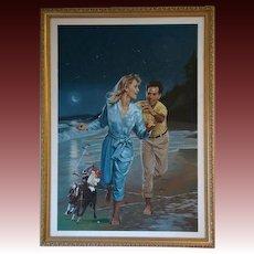 Danny Crouse Harlequin Romance Winner Take All #210 Laurien Berenson oil painting illustrationist art