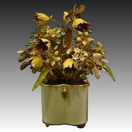 Jane Hutcheson Gorham enameled floral arrangement Fleurs des siecles original tag