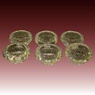 Baccarat French crystal set of six matching salt dips