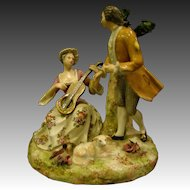 German porcelain double figurine man and woman courting