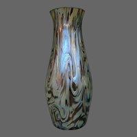 Kralik Bohemian iridescent art glass vase