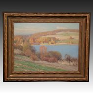 Frank A Barney American impressionist landscape oil painting New York artist