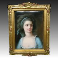 German hand painted porcelain plaque Countess Sophie Potocka artist signed Paul Doering
