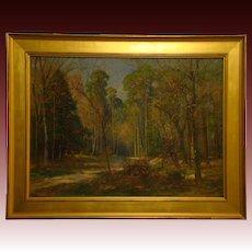 Friedrich Wilhelm Schwinge German listed artist impressionist landscape oil painting