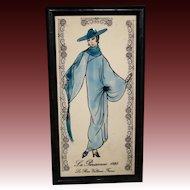 French deco plaque La Parisienne 1928 fashion woman