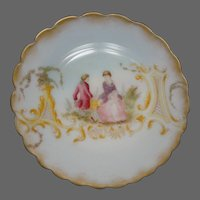 Mount washington Colonial Ware art glass round disk plate