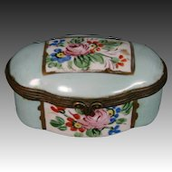 Limoges hand painted roses and flowers trinket box