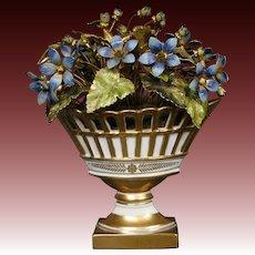 Jane Hutcheson enameled floral arrangement flowers for Gorham