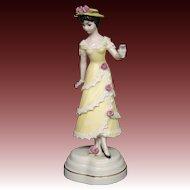 Goebel Huldah Cherry Jeffe Summer 702 yellow dress figurine