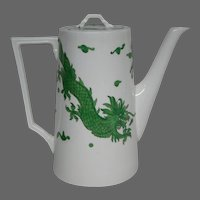 Hammersley bone china green dragon 4602 large coffeepot