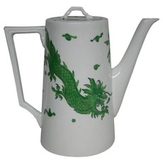 Hammersley bone china green dragon 4602 large coffeepot