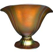Steuben gold aurene footed helmet vase form 7564
