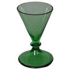 Steuben art glass pomona green cordial goblet variant 5192 shape