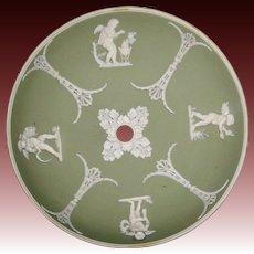 Wedgwood green jasperware four seasons chandelier piece cap dome base