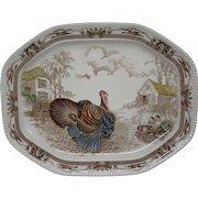 Johnson Brothers Barnyard King large turkey serving platter