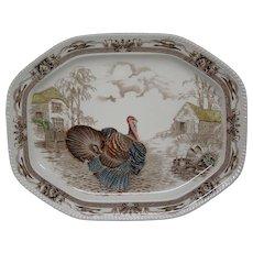 Johnson Brothers Bros Barnyard King large turkey serving platter