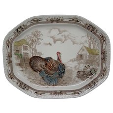 Johnson Brothers Bros Barnyard King large turkey serving platter