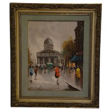 Andrea de Vity French impressionist street scene oil painting Paris
