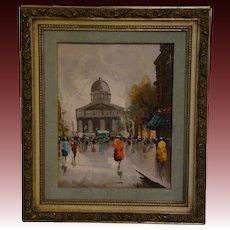 Andrea de Vity French impressionist street scene oil painting Paris