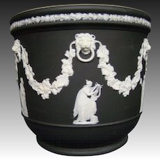 Wedgwood basalt jasperware large vase planter classic figures