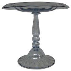 Steuben art glass rare moonlight color tall compote form 6110