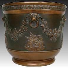 Wedgwood black basalt jasperware copper clad vase jardiniere UNUSUAL