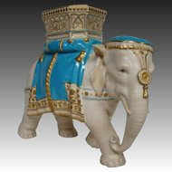 Royal Worcester Tiffany & Co elephant vase figurine James Hadley