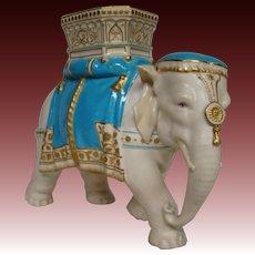 Royal Worcester Tiffany & Co elephant vase figurine James Hadley