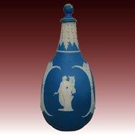Wedgwood blue jasperware covered bottle unusual