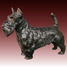 Austrian cold painted bronze scottie dog sculpture