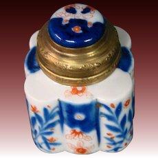 Antique imari porcelain inkwell