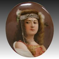 Hutschenreuther porcelain Cleopatra plaque artist signed Boehm