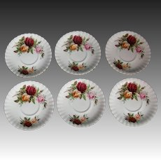 Royal Albert Kings Ransom large saucers bouillion or breakfast hard to find