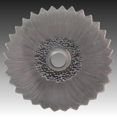 Frosted glass large sunflower crystal lamp shade chandelier