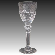 Rogaska crystal Gallia cordial goblet glass