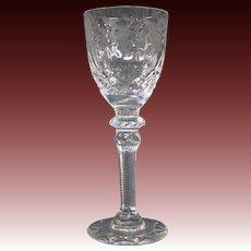Rogaska crystal Gallia cordial goblet glass