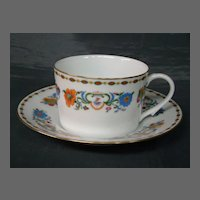 Ceralene Raynaud & Co Limoges Vieux Chine cups and saucers