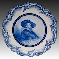Delft large portrait charger plate after Rubens