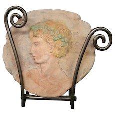 Gary Ross Columbus Ohio artist Greek or Roman profile plaque