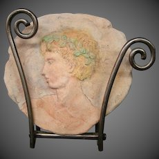 Gary Ross Columbus Ohio artist Greek or Roman profile plaque