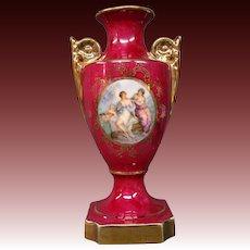 Limoges handled vase urn classic figures