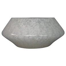 Steuben white cluthra art glass bowl