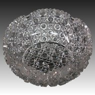 Round cut glass bowl nice cutting