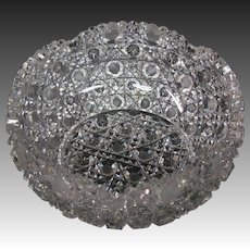 Round cut glass bowl nice cutting