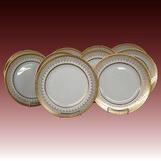 Rosenthal Bavaria gold encrusted rim set of ten dinner plates